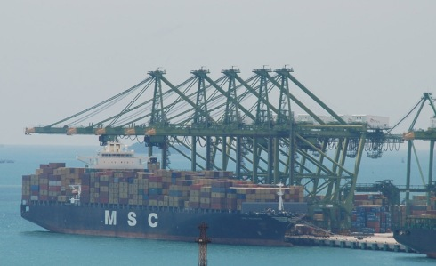 Ship in Singapore by Claire Rosslyn Wilson