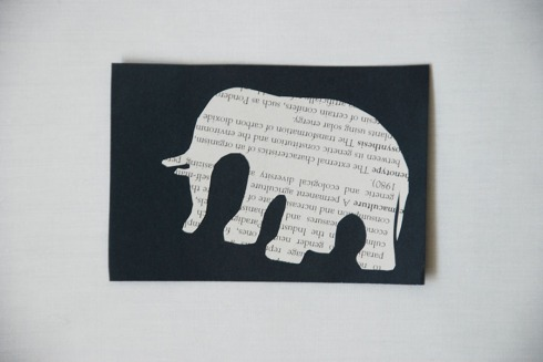 Elephant bookmark by Claire Rosslyn Wilson