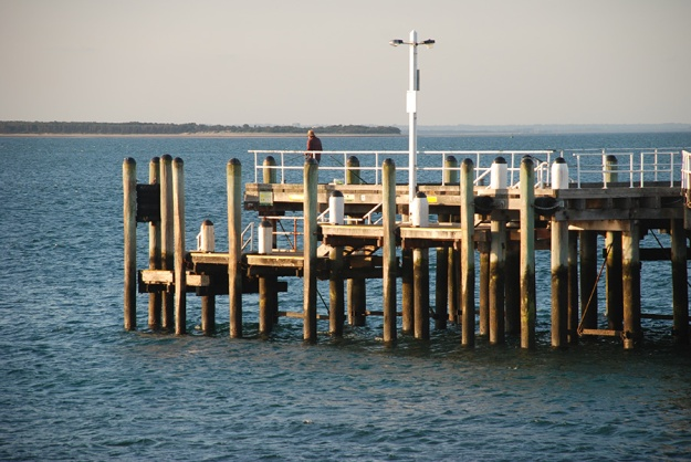 Pier pillars by Claire Rosslyn Wilson
