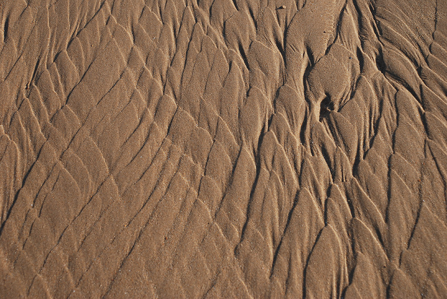 Sand patterns by Claire Rosslyn Wilson