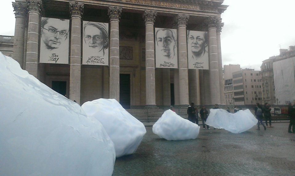 Ice in Paris, photo by Claire Rosslyn Wilson