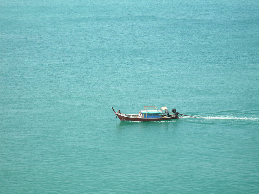 Boat at Sea by Claire Rosslyn Wilson