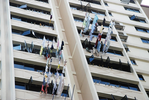 Washing in Singapore by Claire Rosslyn Wilson