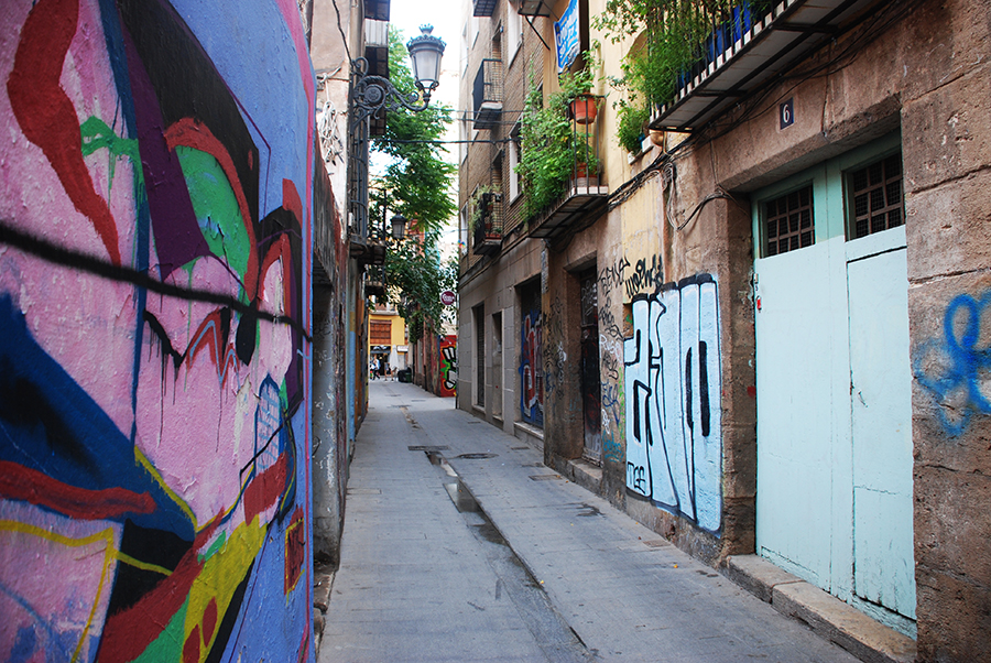 Graffiti in Valencia by Claire Rosslyn Wilson