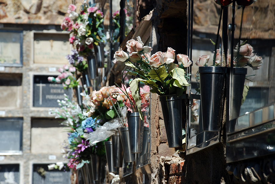 Cemetery flowers by Claire Rosslyn Wilson