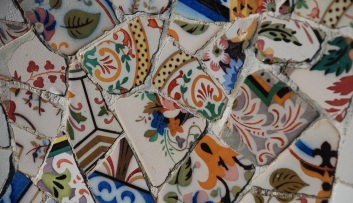 Fragments of tiles in blog of writer Claire Rosslyn Wilson